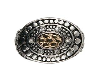 R168 - Silver/Gold Ring - Trisha Waldron Designs
