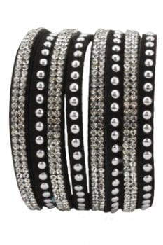 EB943- Black Double Wrap Bracelet
