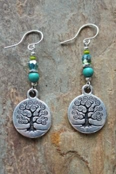 trisha waldron designs, tree of life, earring, handcrafted, made in south dakota