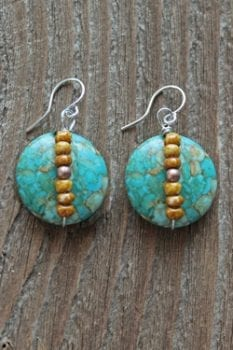 trisha waldron, magnesite turquoise, earrings