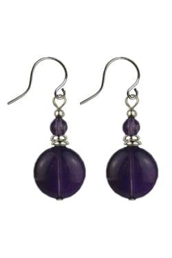 Amethyst Handcrafted Earrings