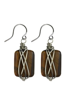 Tiger-eye Handcrafted Earrings